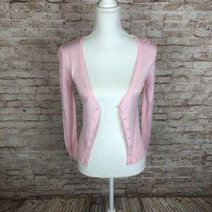 Zara, V-Neck Pink Cardigan Sweater Sz XS